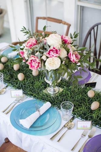 Easter Brunch Centerpiece