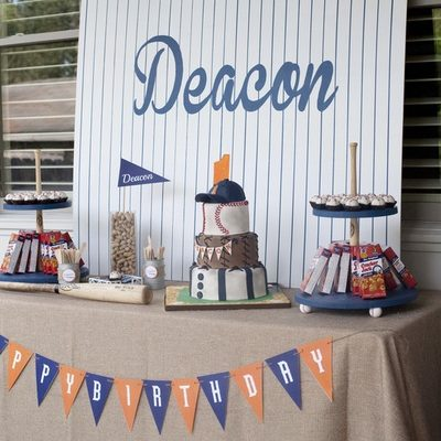 "Baseball Birthday Party Ideas- Deacon's Named ""Rookie of the Year""!"