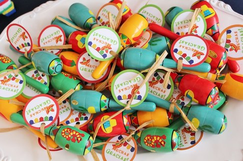 fiesta party favors and muchas gracias favor tags