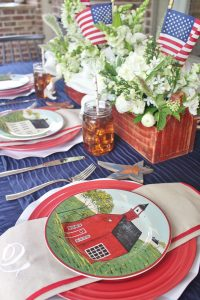 patriotic farmhouse tablescape ideas