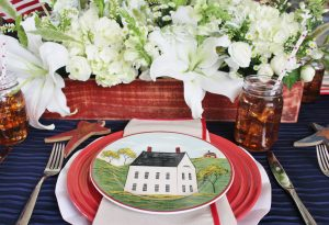 patriotic farmhouse place setting ideas