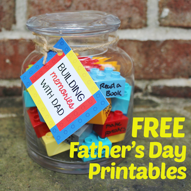 FREE Father's Day Printable- DIY Building Memories Gift