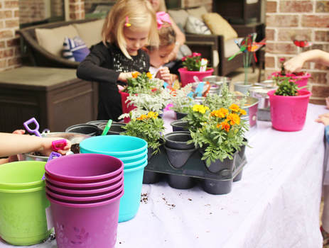make your own butterfly garden party activity