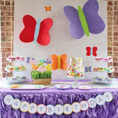 How to Style a Colorful Butterfly Birthday Party