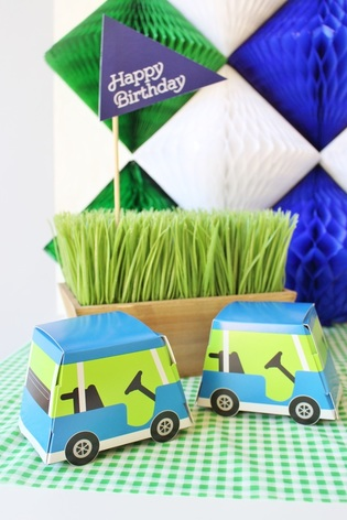golf birthday party favor boxes