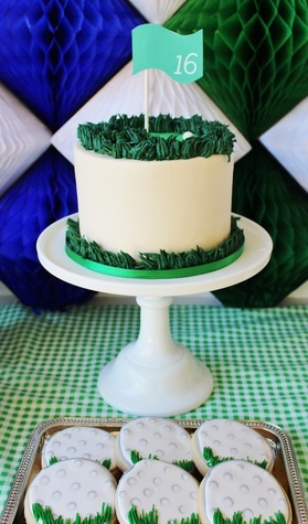 golf birthday party cake