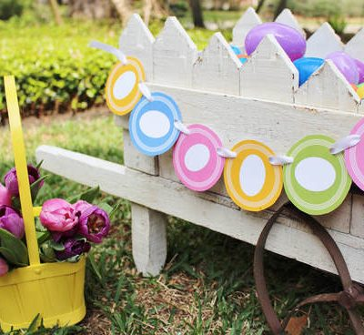 FREE Easter Printable- Colorful Easter Egg Garland