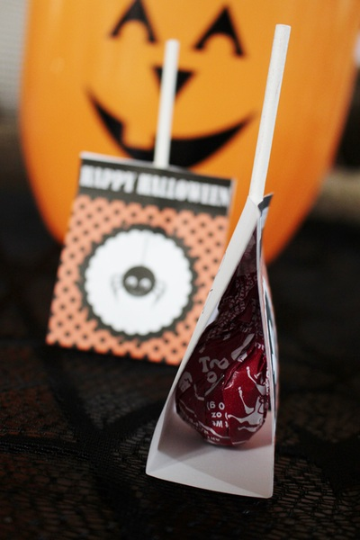 Halloween lollipop wrappers