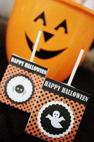FREE Printable Happy Halloween Lollipop Favors