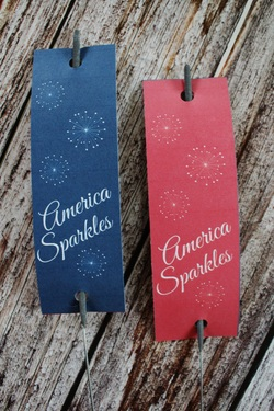 Friday's Freebie- Patriotic Sparkler Tags