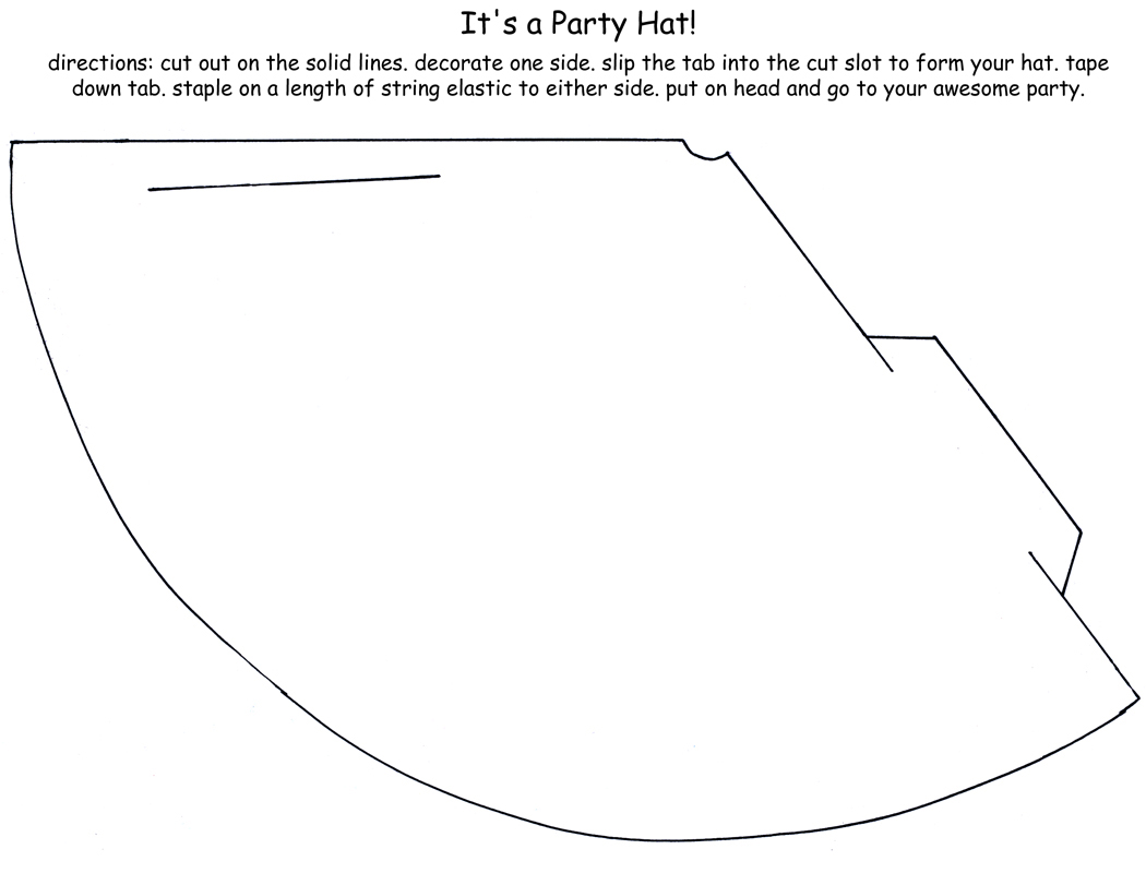 Fridays Freebie Snack Cone Or Party Hat Templatee To Create