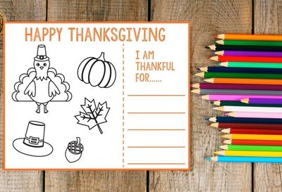 Friday's Freebie: Thanksgiving Coloring Placemat