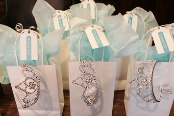tiffany birthday party favors