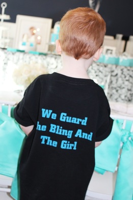 tiffany birthday party shirts