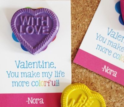 """{Giveaway Post} Enter to Win 12 Personalized & Assembled """"You Make my Life More Colorful"""" Valentine's Day Favor Cards"""