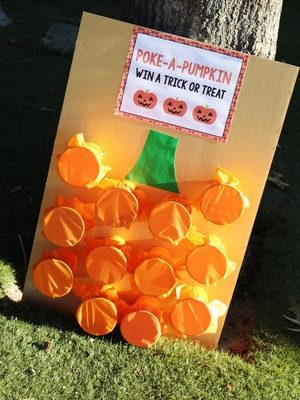 Halloween Party Activity: Poke a Pumpkin Game…Win a Trick or Treat