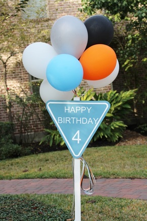 construction birthday party signage