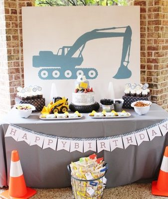 Harrison's Modern Construction Birthday Party