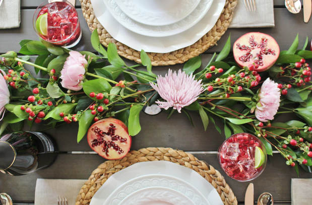 how to create a fresh floral table runner