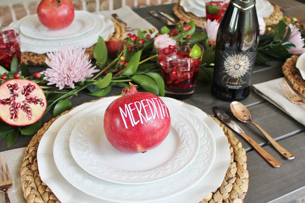 pomegranate tablescape ideas