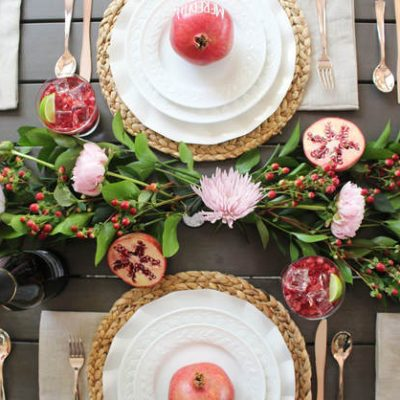 How to Create a Pomegranate Inspired Tablescape