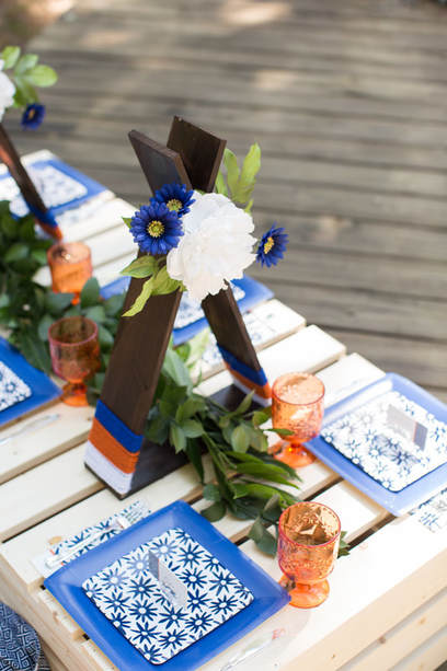 bohemian bridal shower centerpieces