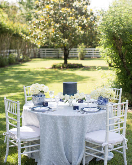 garden bridal shower tablescape