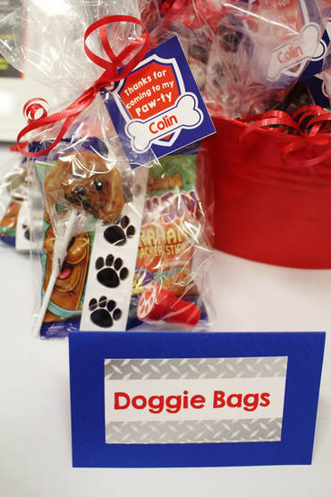 Paw Patrol party favors with labels