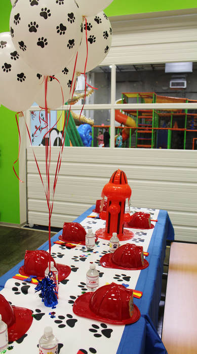 Paw Patrol birthday party set up