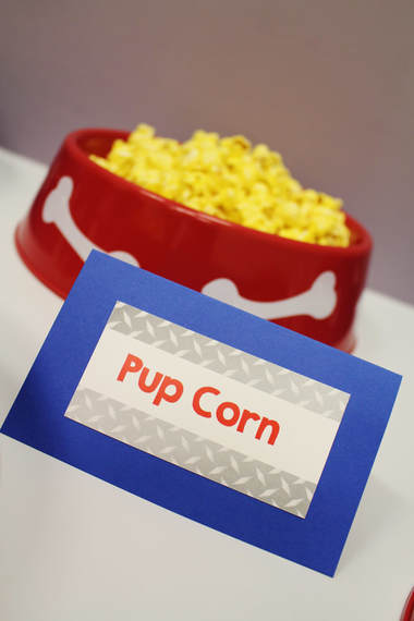 Paw Patrol party snack labels