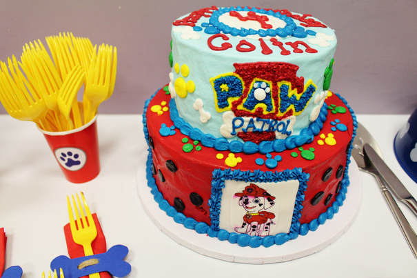 Paw patrol birthday party cake