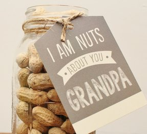 """I'm Nuts About You"" Father's Day FREE Printable & Gift Idea"