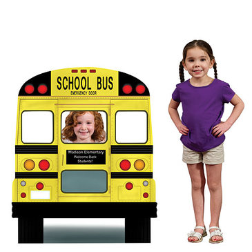 school bus photo prop