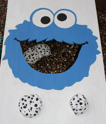 cookie monster bean bag game