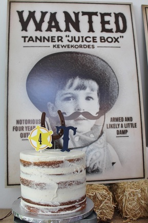 western birthday party wanted poster