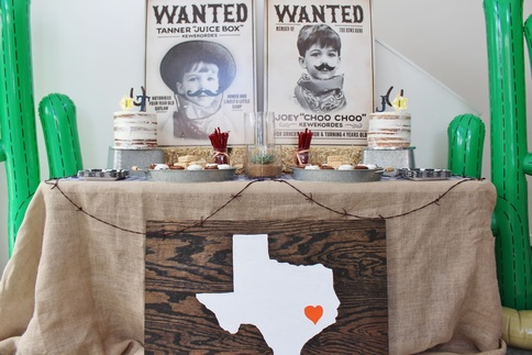 Western Party Ideas Joey Tanners 4th Birthday