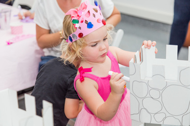 coloring castle at a beauty and the beast party