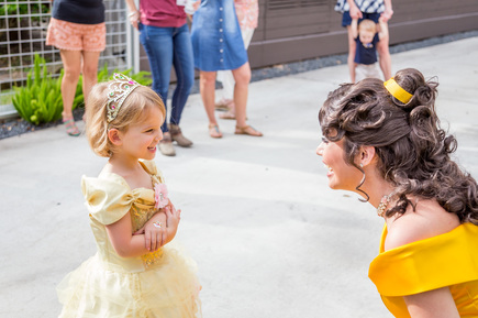 beauty and the beast party with belle