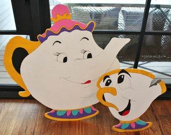 beauty and the beast standees mrs potts