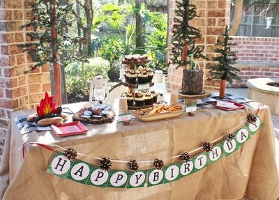 Leo's Lumberjack 1st Birthday Party