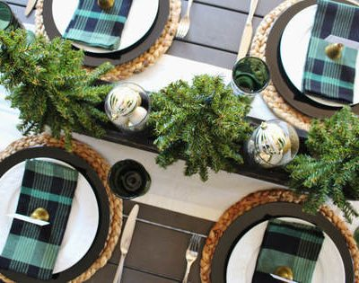 How To Use Plaid in a Holiday Tablescape