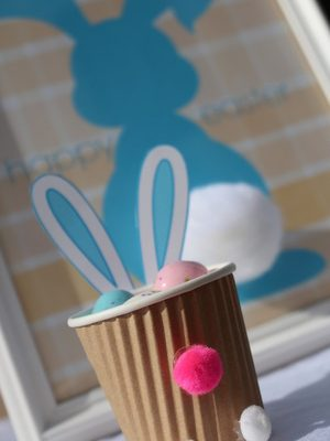 Make-it-Monday: DIY Easter Bunny Treat Cups