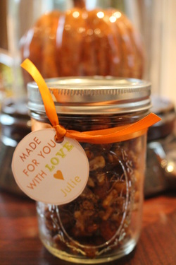 Make it Monday- Spiced Nuts in Mason Jars……
