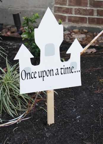 once upon a time signage at a princess party