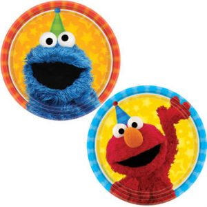 cookie monster plates