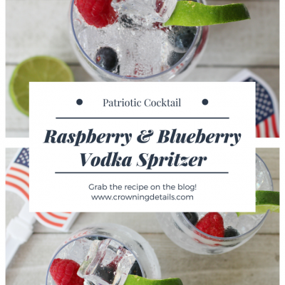 Patriotic Cocktail: How to Make a Raspberry and Blueberry Vodka Spritzer