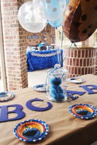 cookie monster party decorations