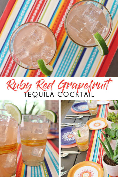 Ruby Red Grapefruit Tequila Cocktail Recipe