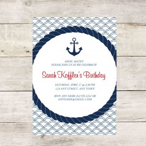 Nautical Anchor Party Invitation