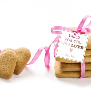 """Baked for You with Love"" Square Gift Tags"